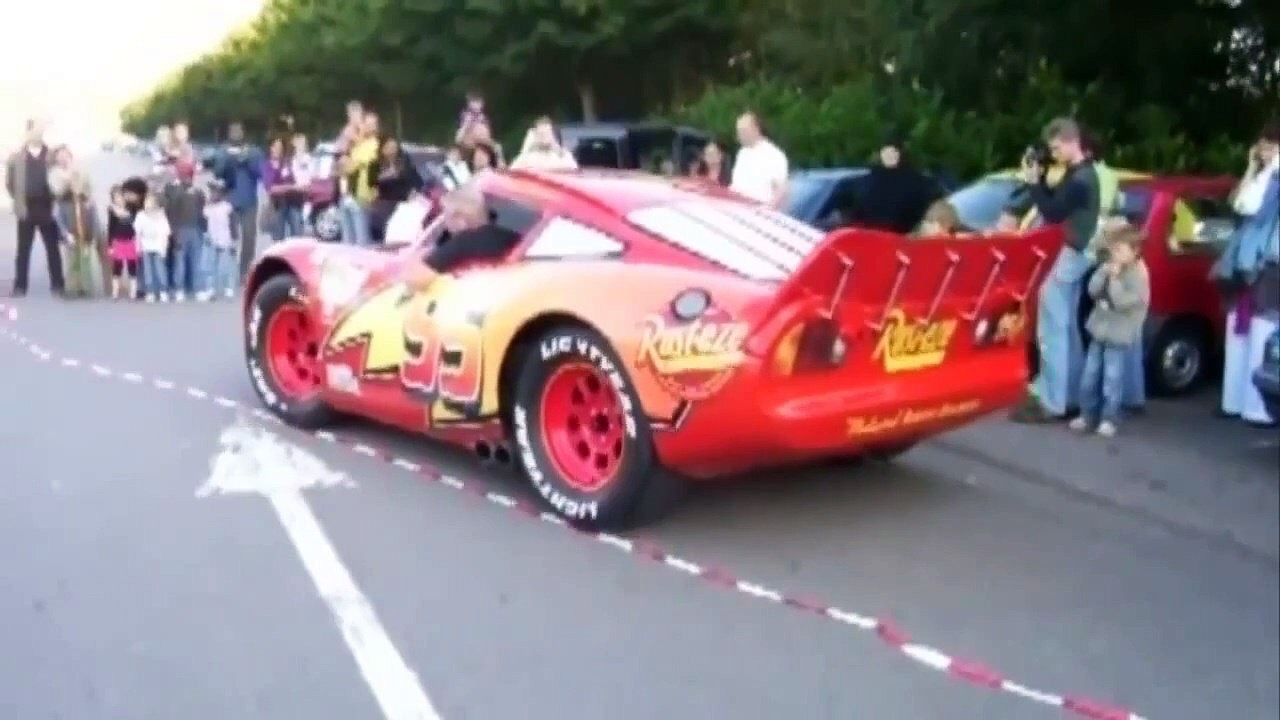 This Is A Real Life Lightning Mcqueen Car