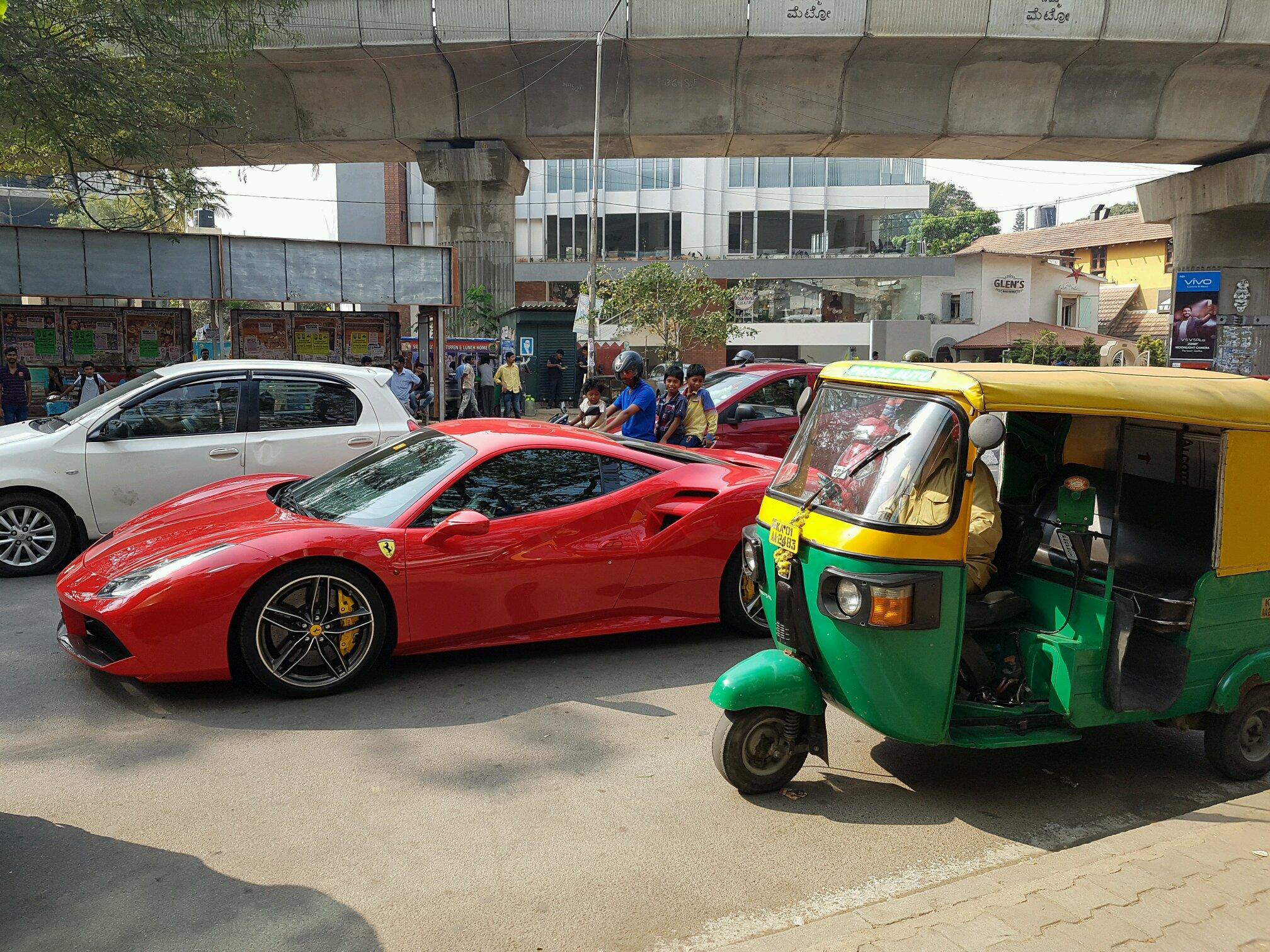 Ferrari   Ferrari 488 GTB In Bangalore, India, On Christmas Day.   Car