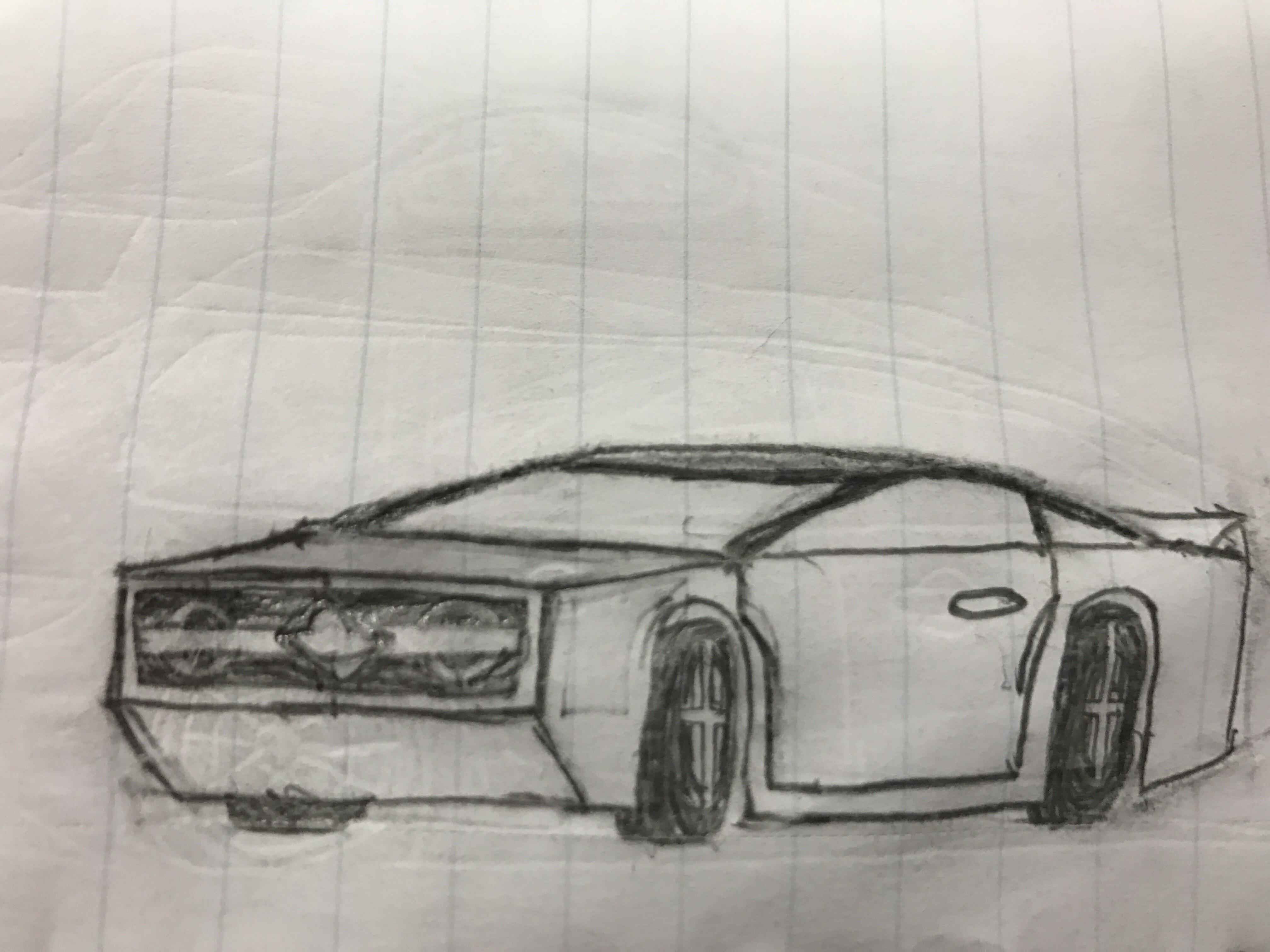 Quick Muscle Car Sketch