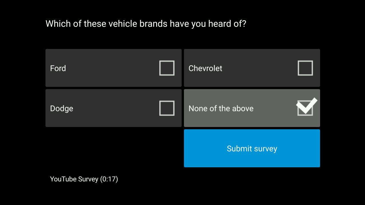 Obvious answer to this YouTube survey.