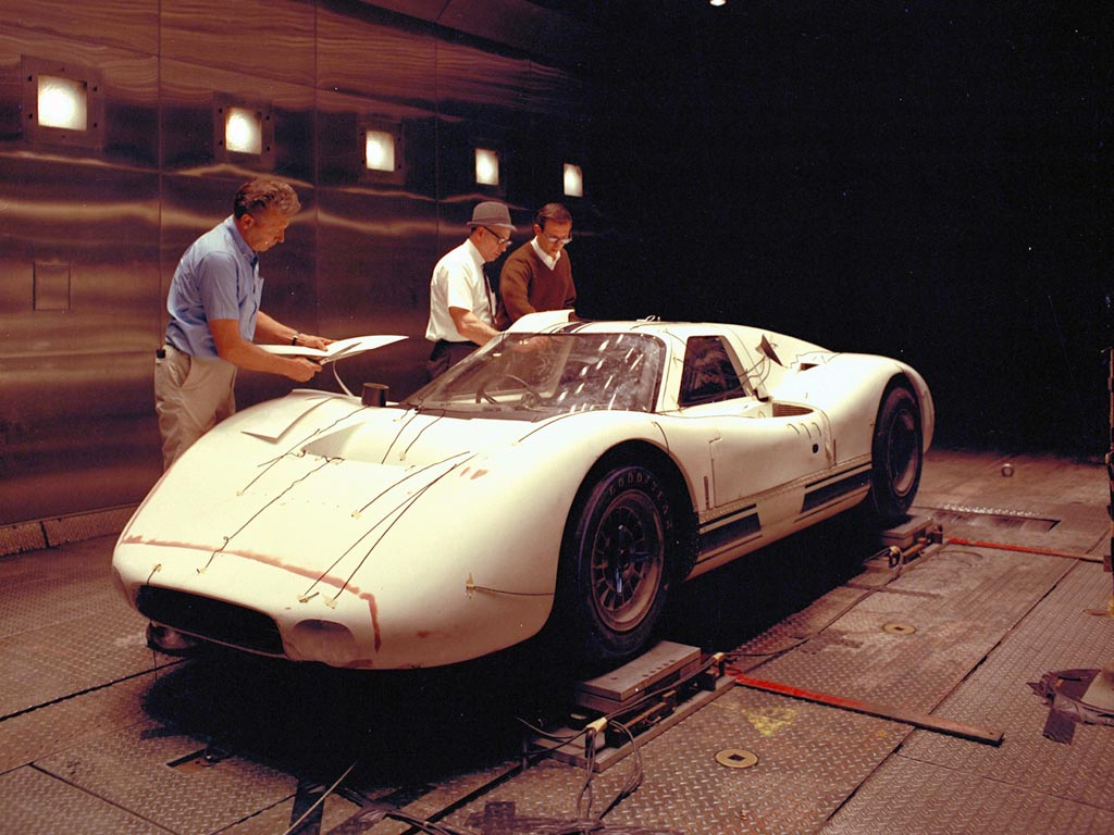 Ford The Ford Gt Mkiv Undergoing Wind Tunnel Testing Prior To Its Le Mans Debut