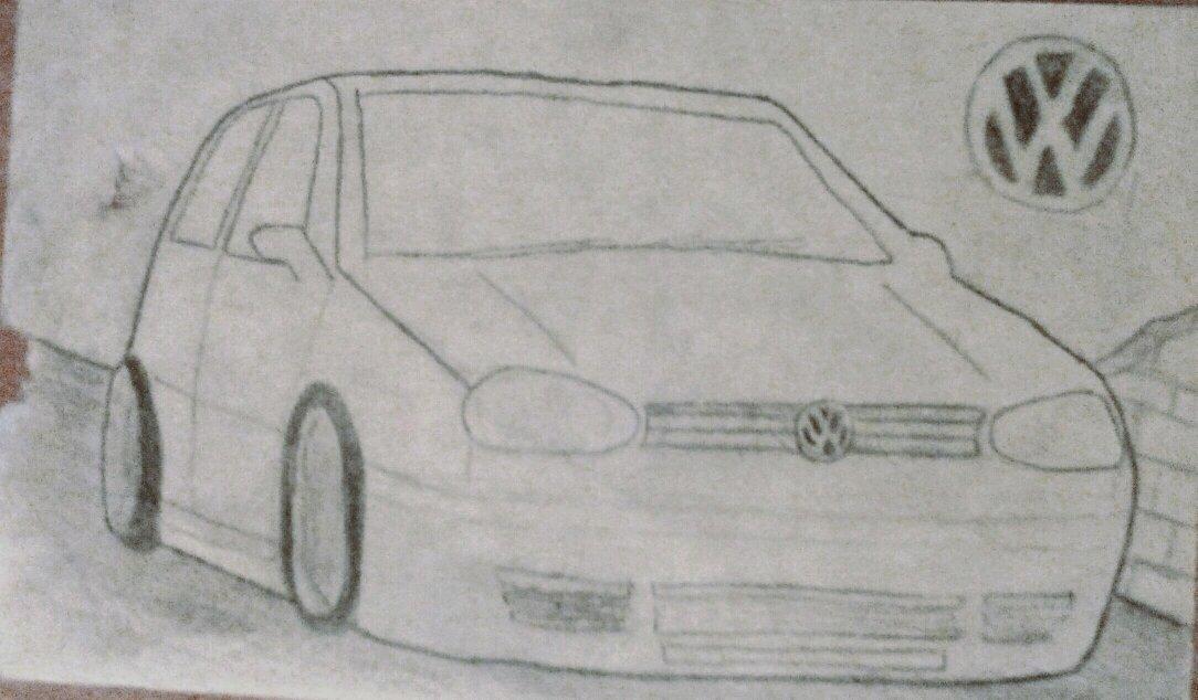 A Quick Mk4 Golf Drawing D