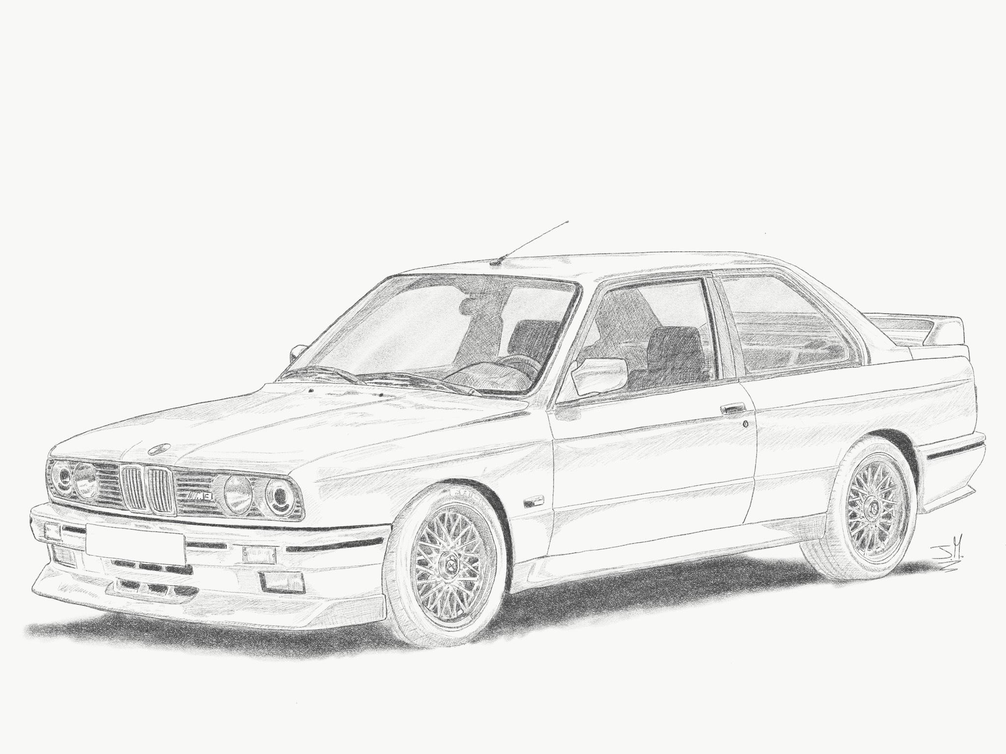 Bmw M3 E30 Hand Draw