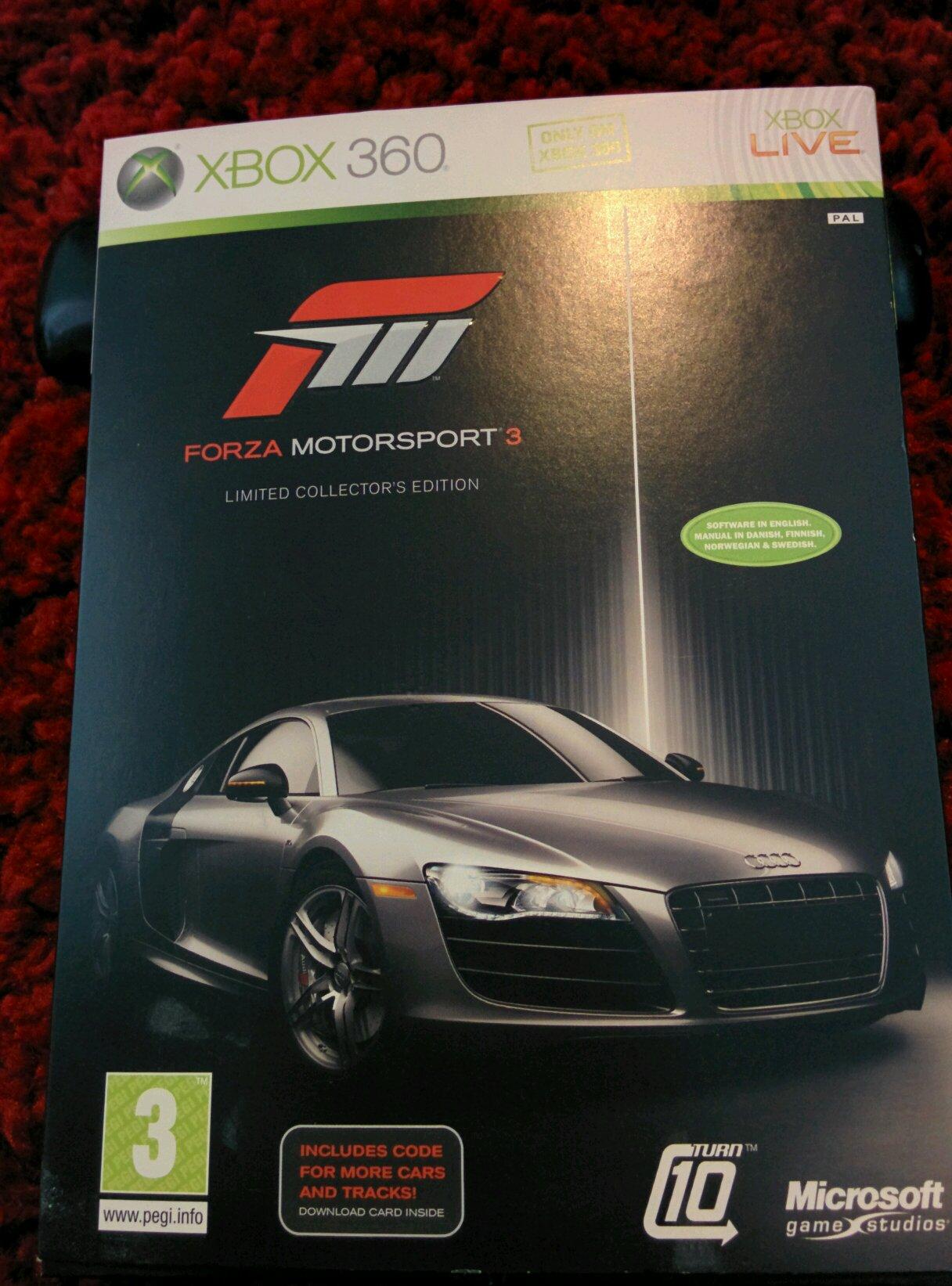 Forza Motorsport 3 Collectors Edition!