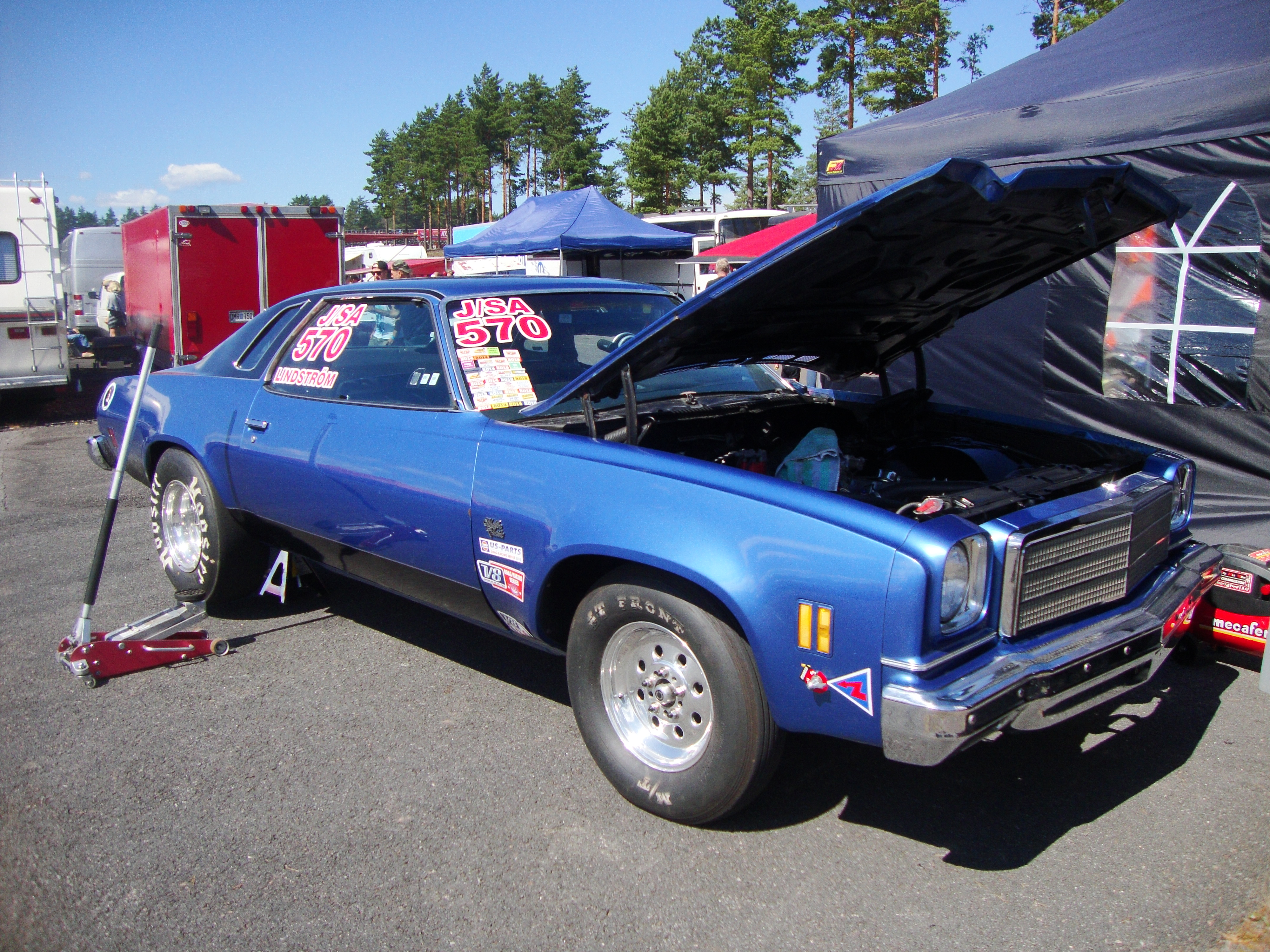 My friend\'s \'74 Chevy Malibu drag car. He races in stock/super ...