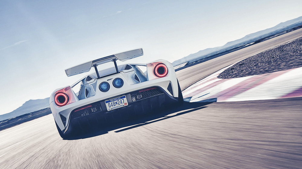 Ford Gt  Spitting Flames By Top Gear Magazine