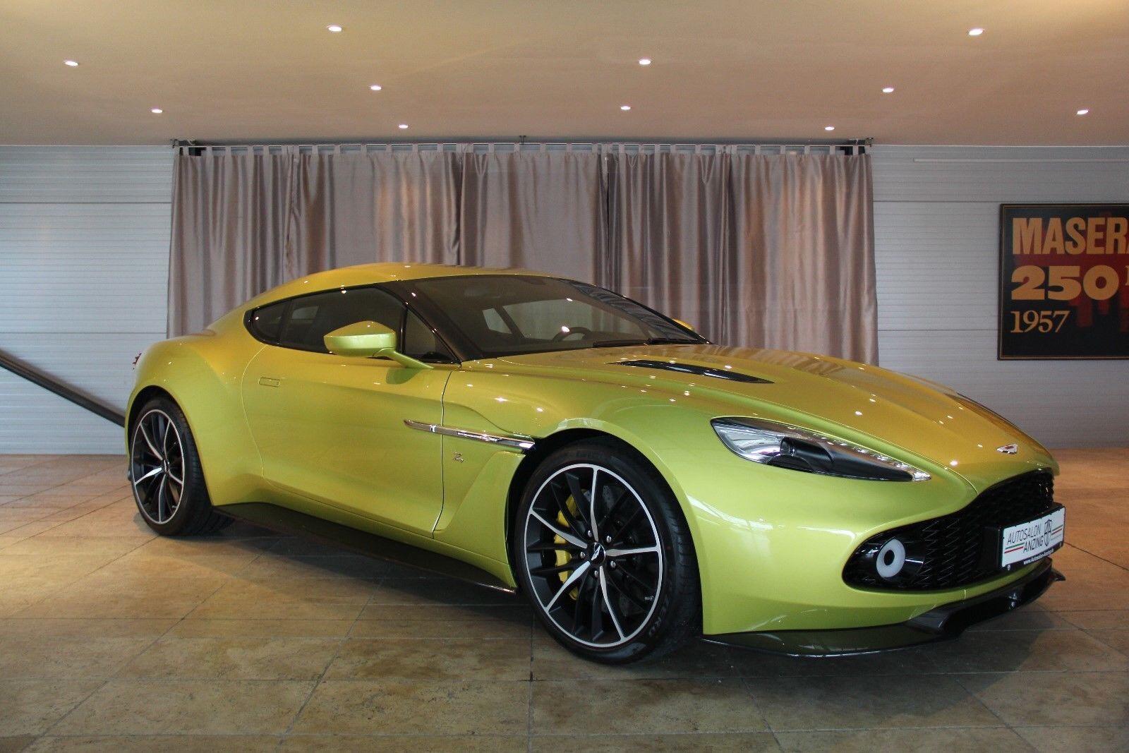 Yellow Aston Martin Vanquish Zagato