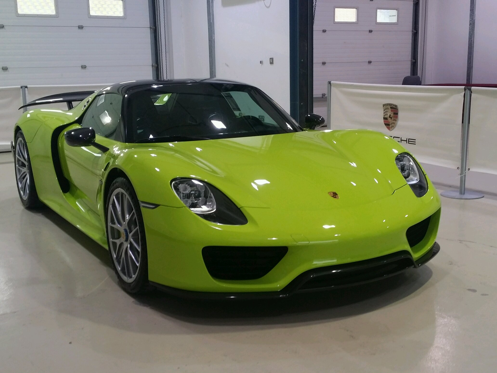 acid green porsche 918 spyder weissach package spotted today at an event held by my dad 39 s company. Black Bedroom Furniture Sets. Home Design Ideas