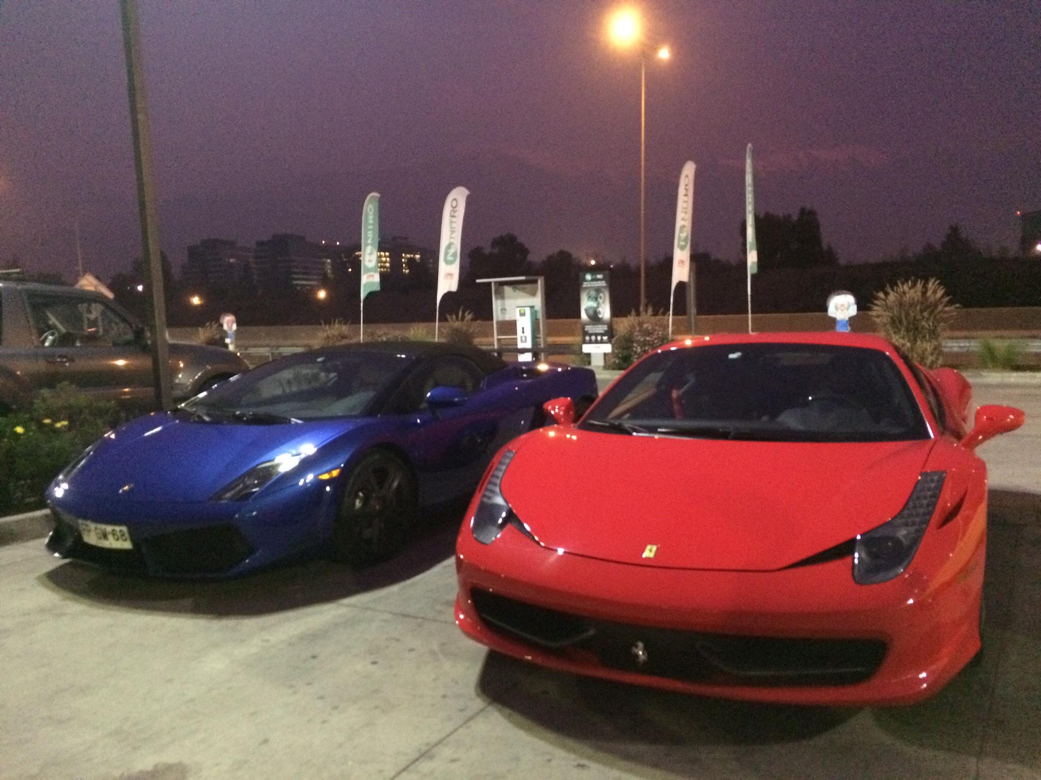 Lamborghini Gallardo Superleggera Spyder Lp 570 4 And Ferrari 458