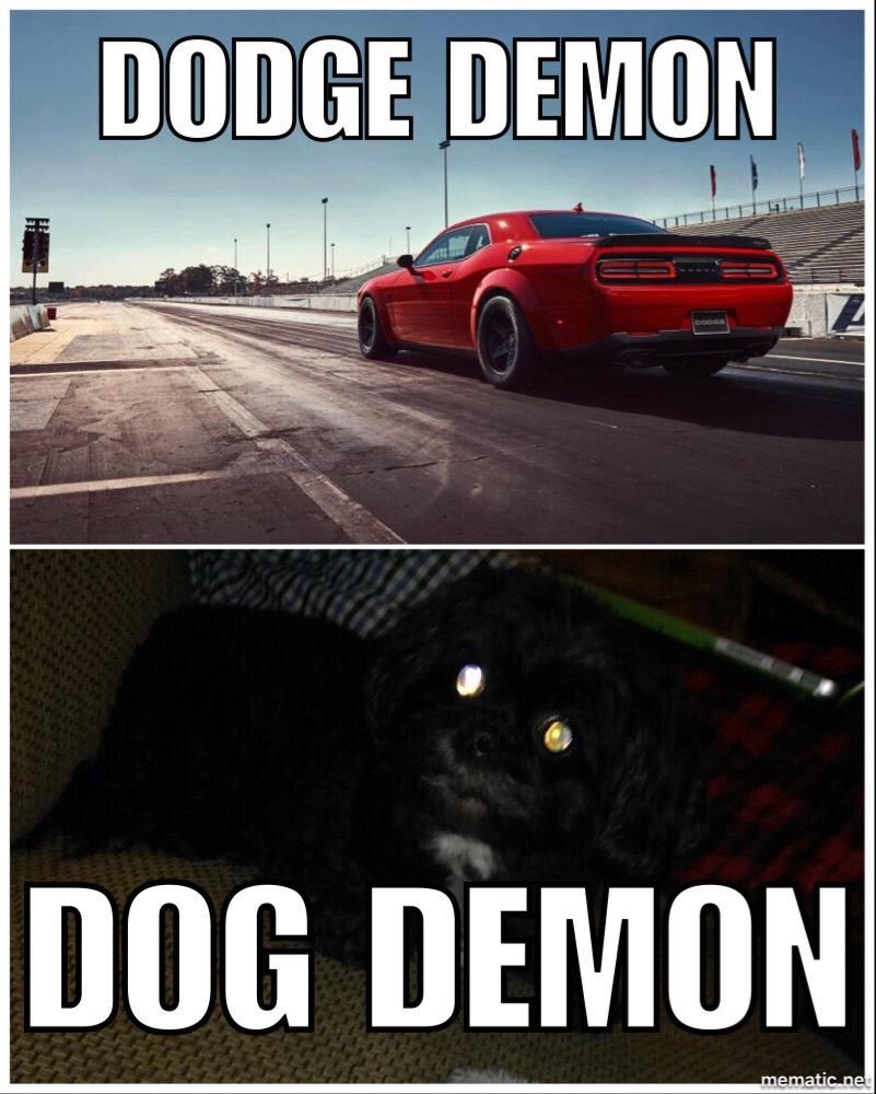 The Dodge Demon isn't scary! . MEME
