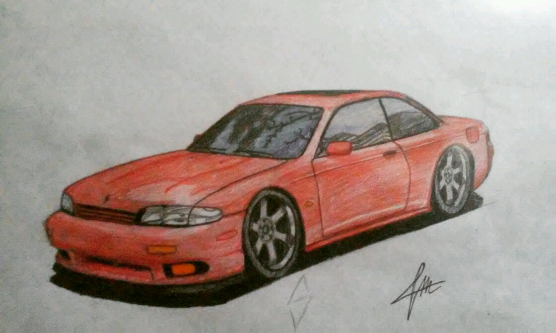 I Tried To Draw A Nissan Silvia S14 Zenki Not Bad Eh