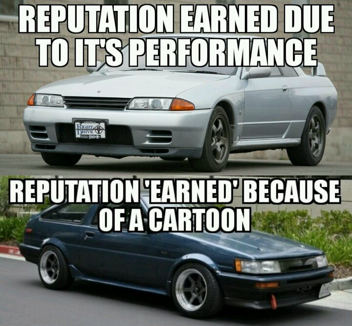 Daily Meme 422 Hardly Anyone Would Like The Ae86 If It Wasn T In Initial D
