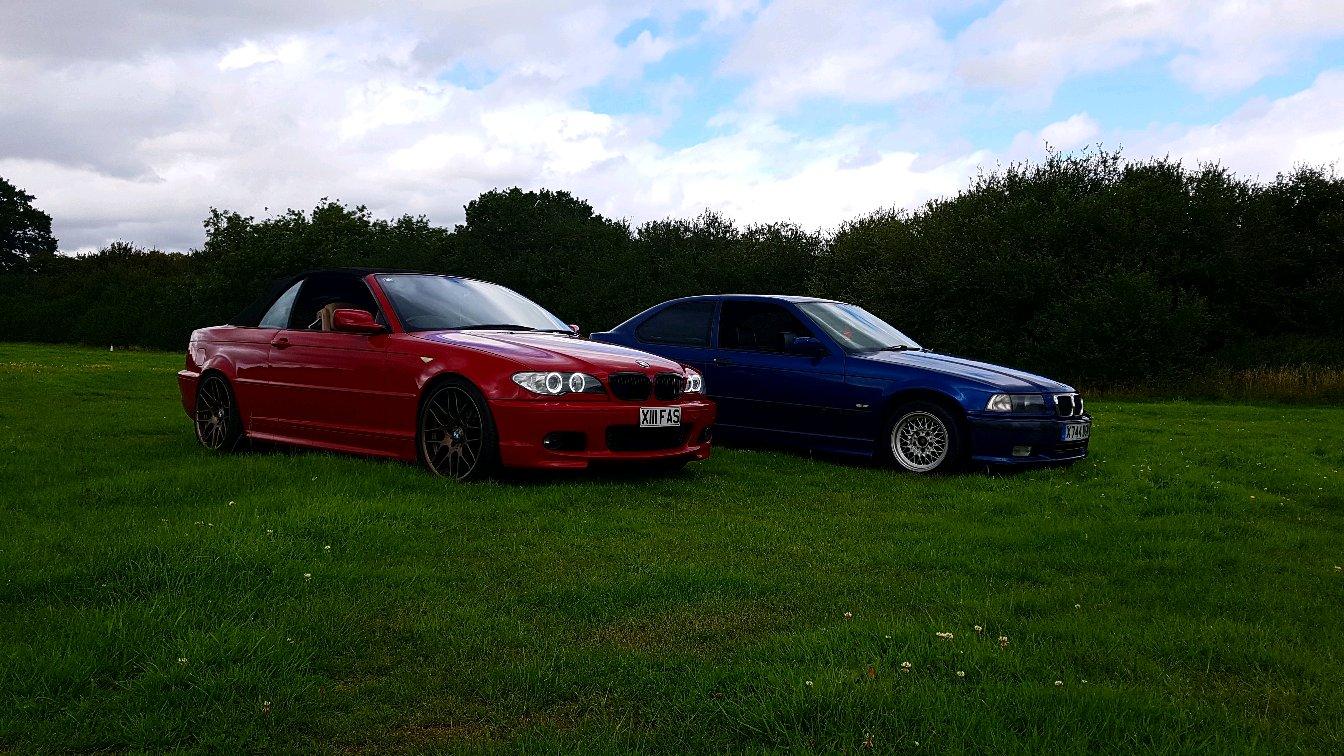 Imola Red E46 And Avus Blue E36 Compact