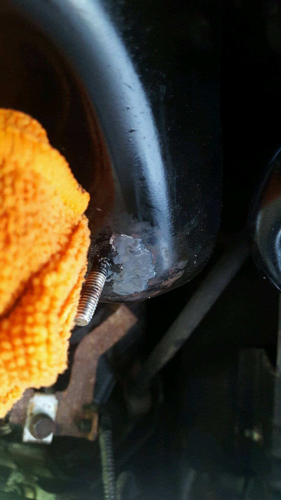 For those in areas prone to rust    check your oil pan around the