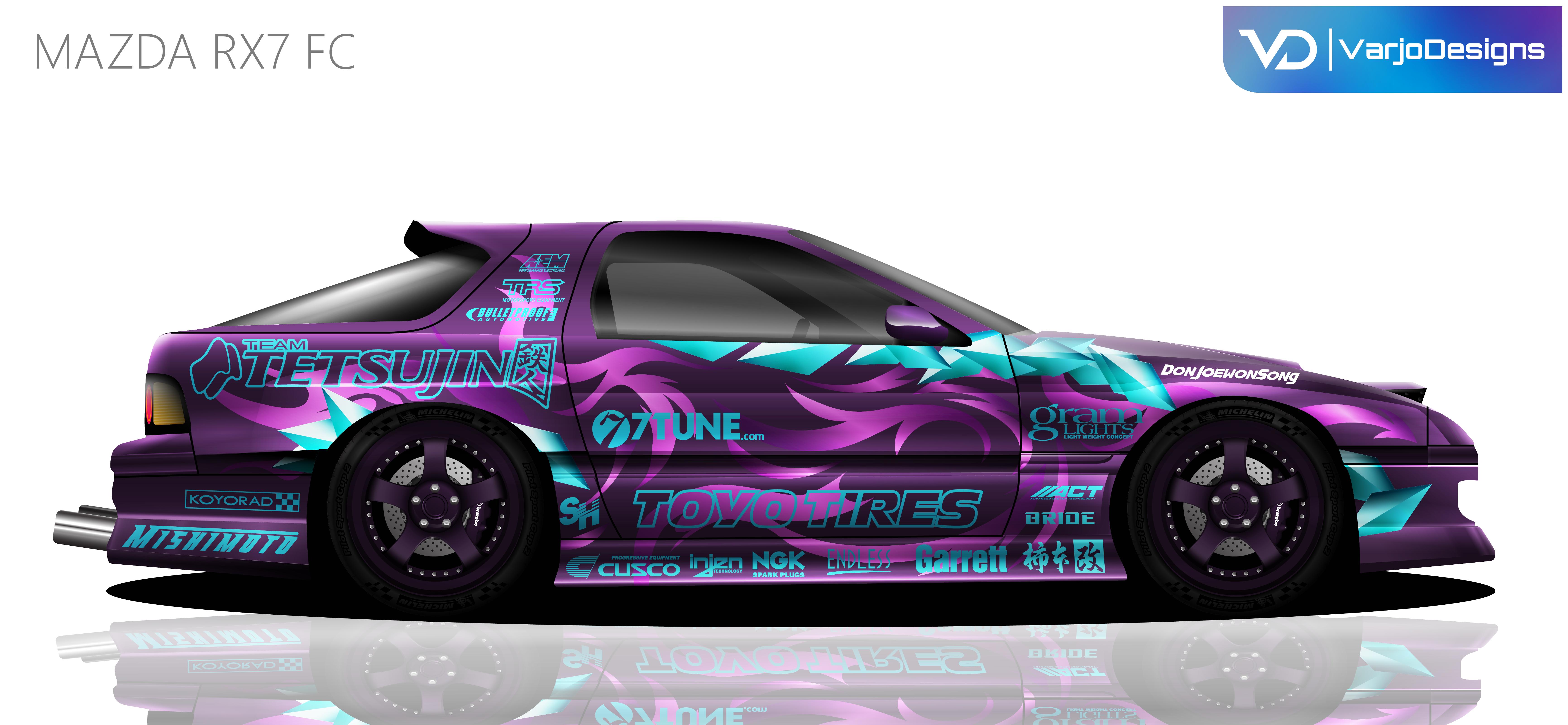 Mazda Rx7 Fc Livery Concept