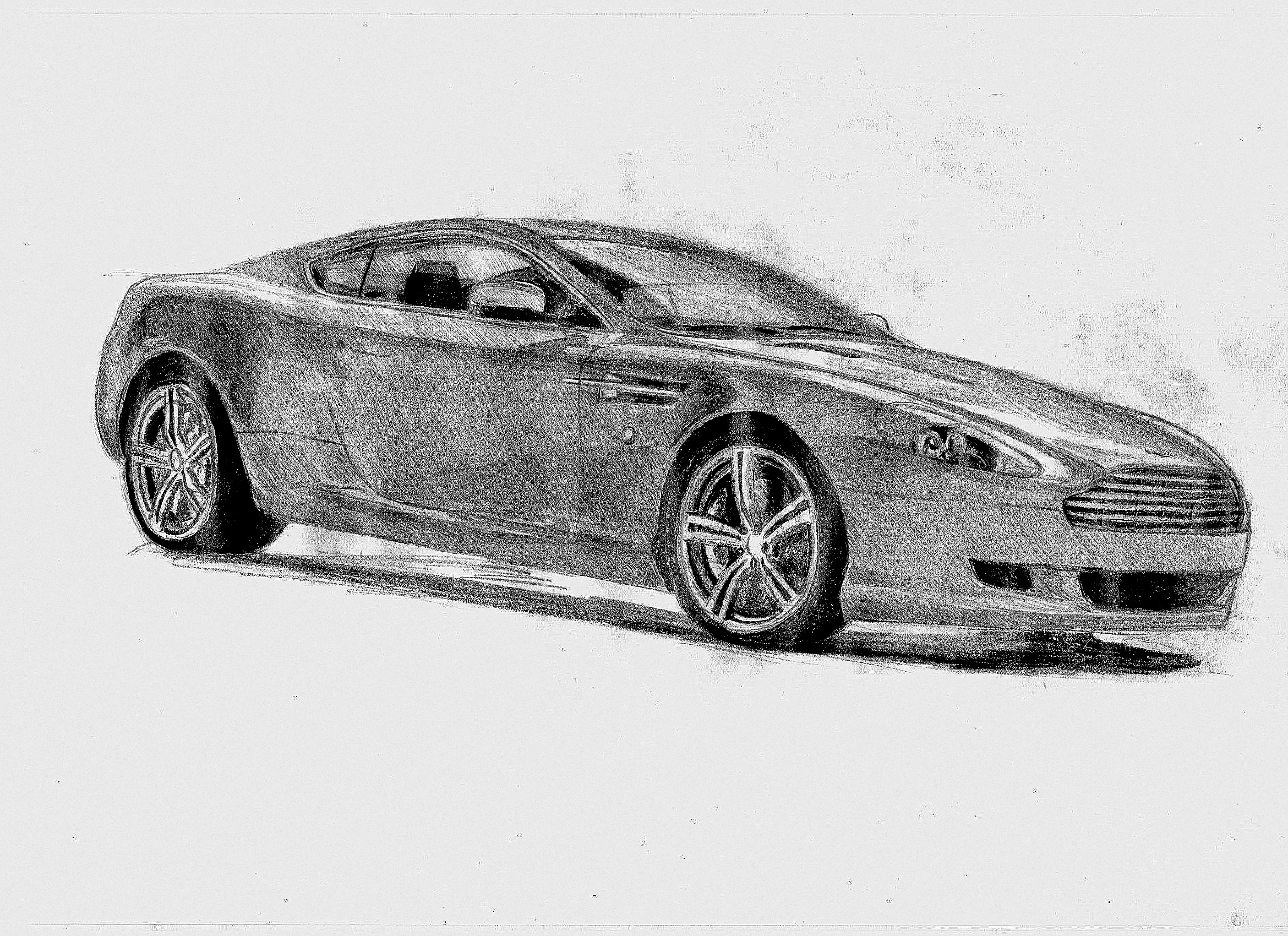 It S Been A Long Time Since I Posted In This Community So Here S A Drawing Of An Aston Martin Db9 I Made Last Week