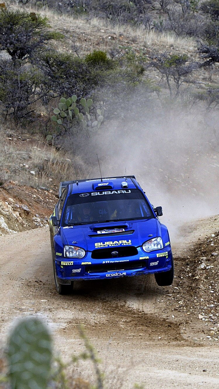 Subaru Rally Phone Wallpaper