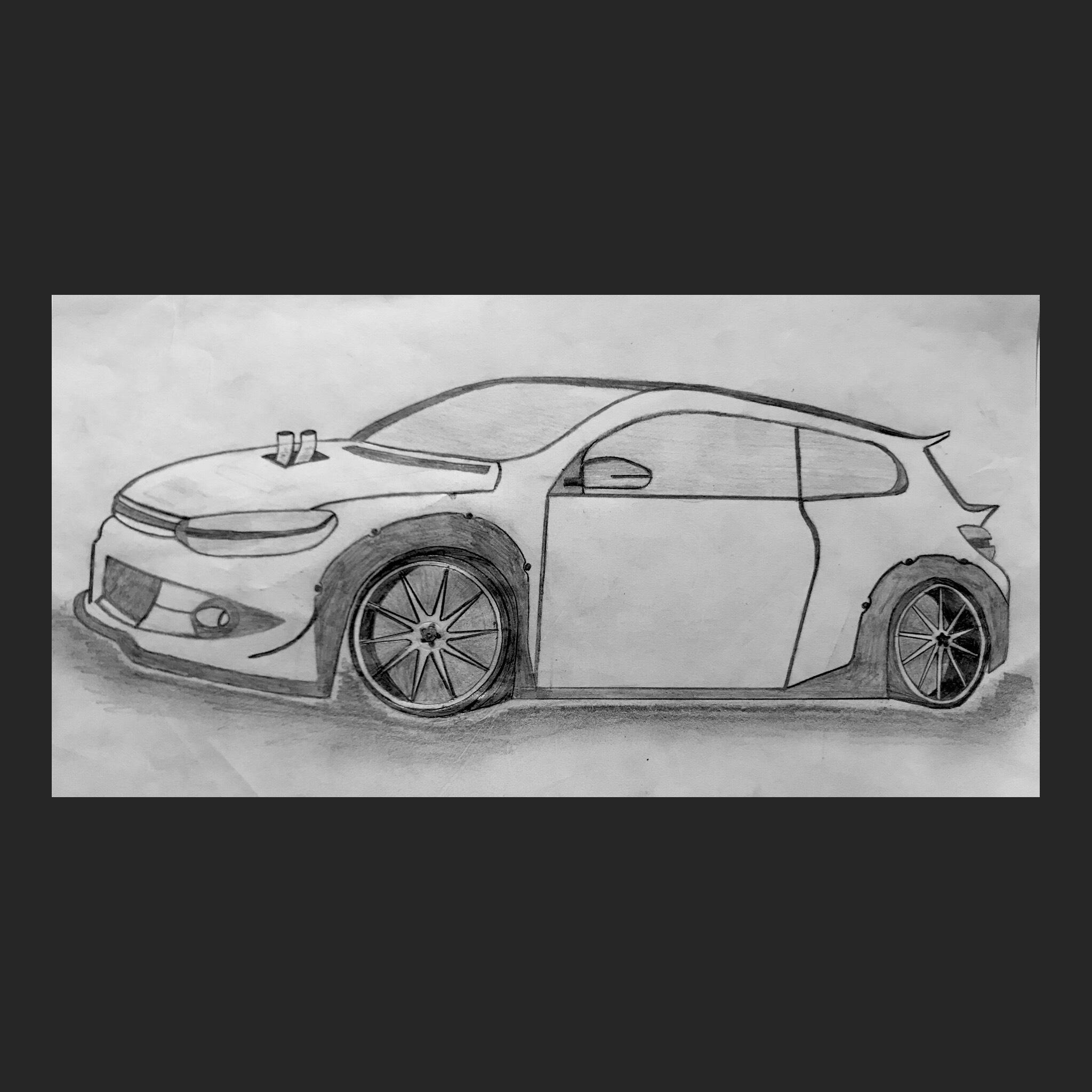 Custom Vw Scirocco R Drawing