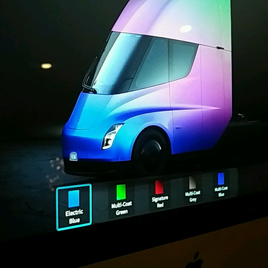 Concept Tesla Semi Paint Options