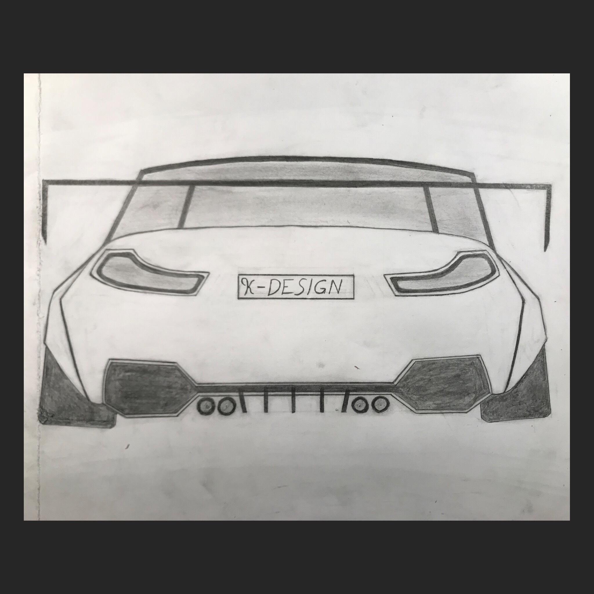 Custom Bmw M4 Wide Body Drawing