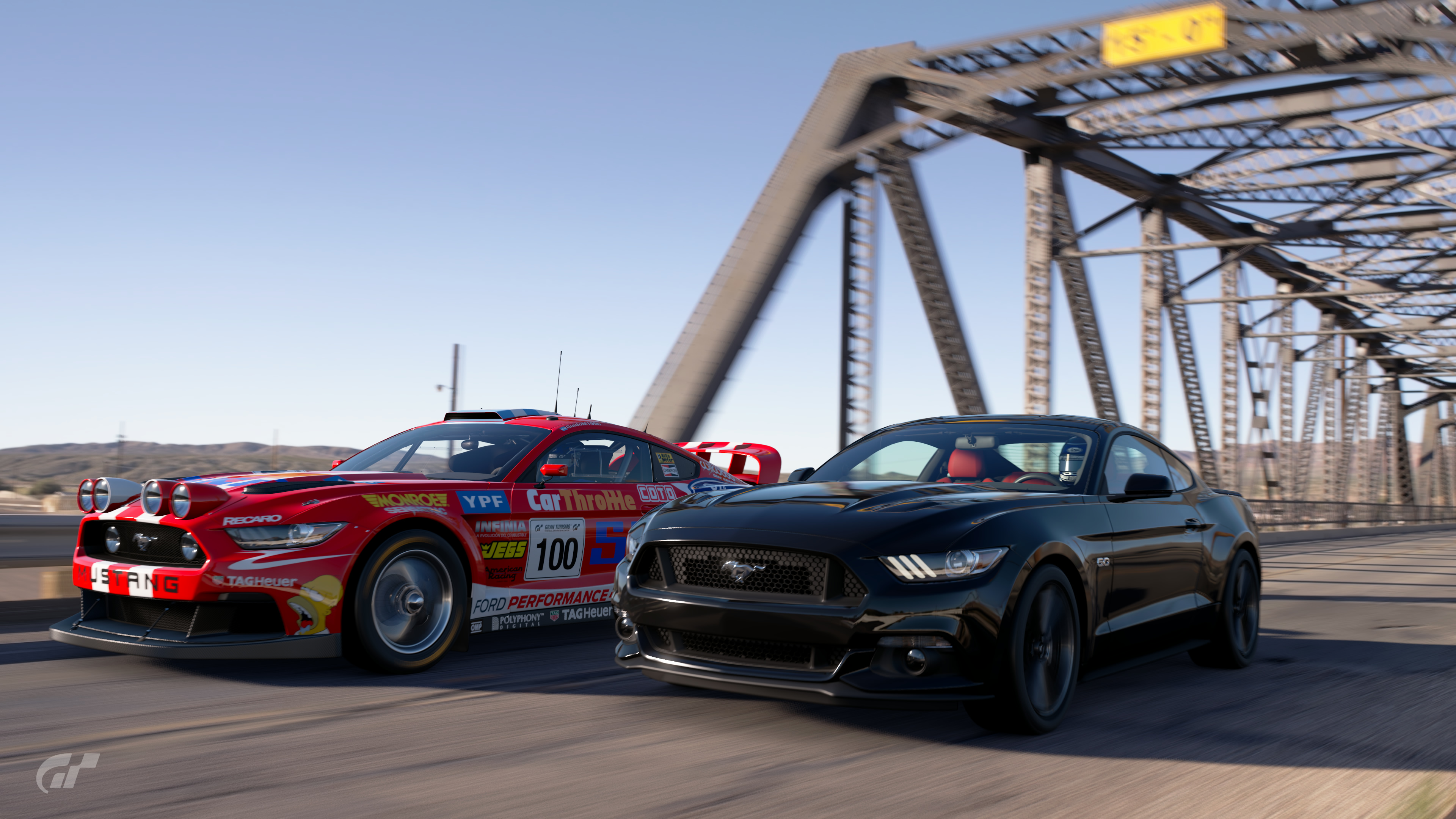 Ford mustang gt and mustang rally car on gran turismo sport gtsportography