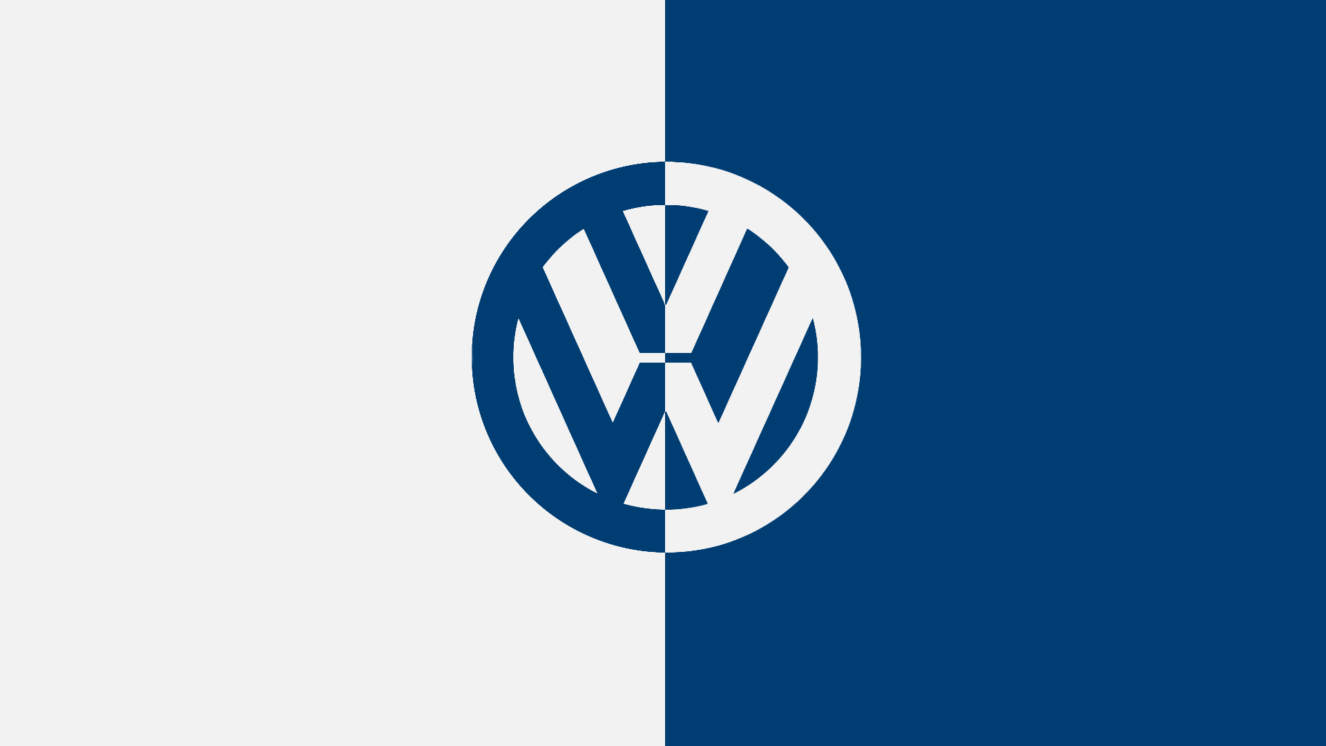 Very minimalistic Volkswagen wallpaper (WIP, need to get rid of some pixels)