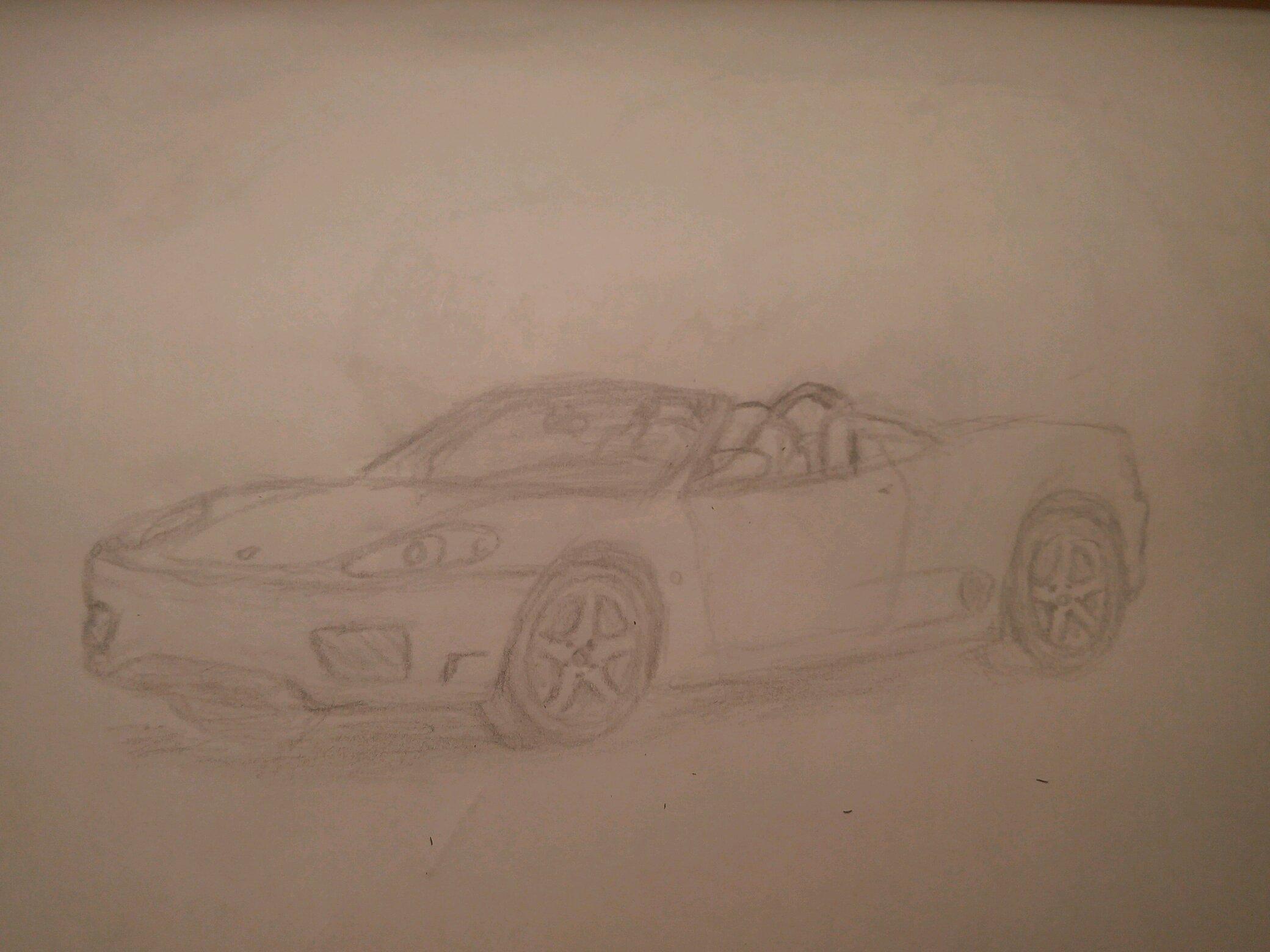 2000 Ferrari 360 Spider Drawing