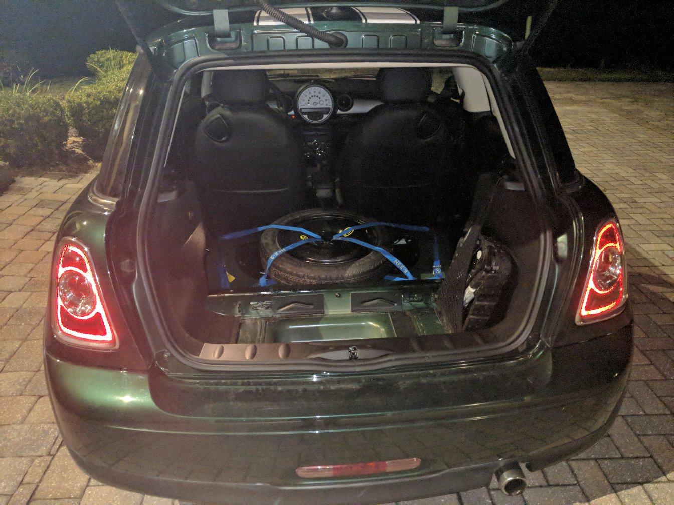 Mini Cooper Spare Tire >> Spare Tire Moved