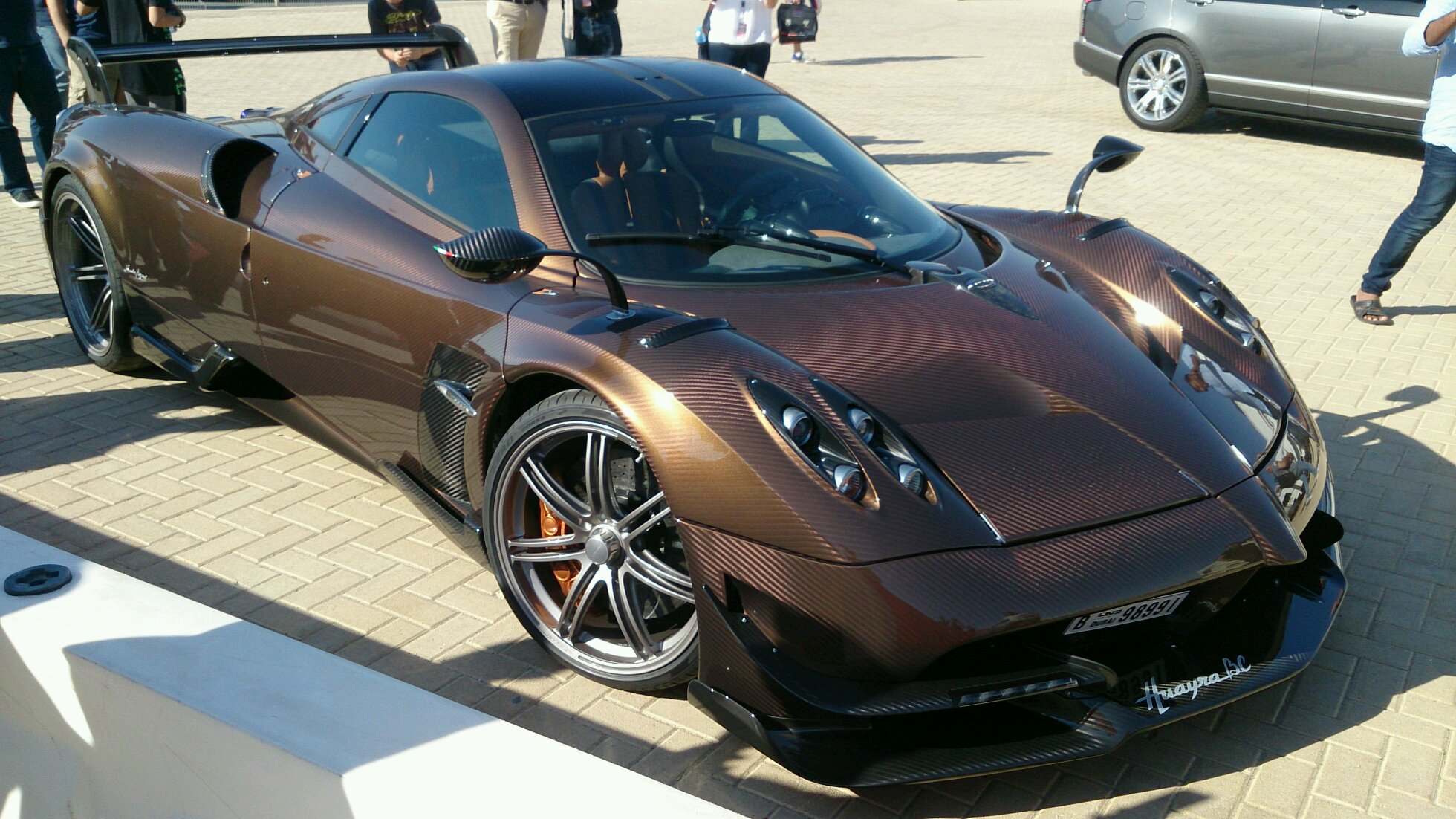 Pagani Huayra BC spotted in Dubai Autodrome during the 24H Hankook