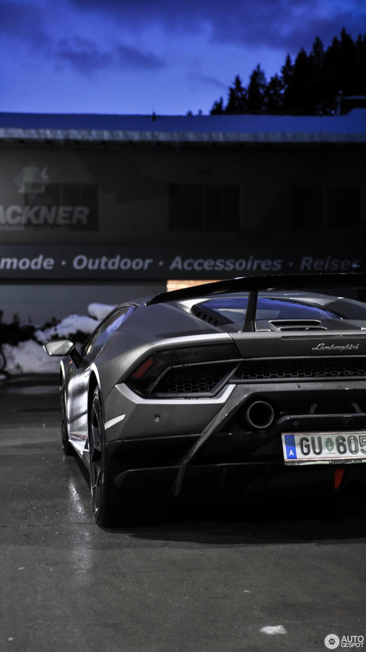 Lamborghini Huracan Performante Phone Wallpaper