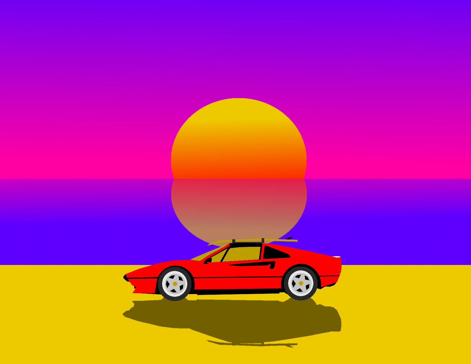 Retrowave Sunset