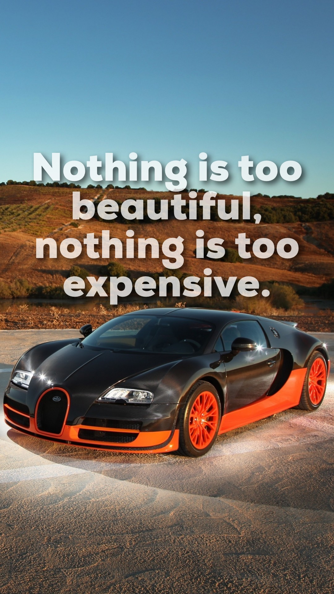 Another Phone Wallpaper With A Quote From Ettore Bugatti