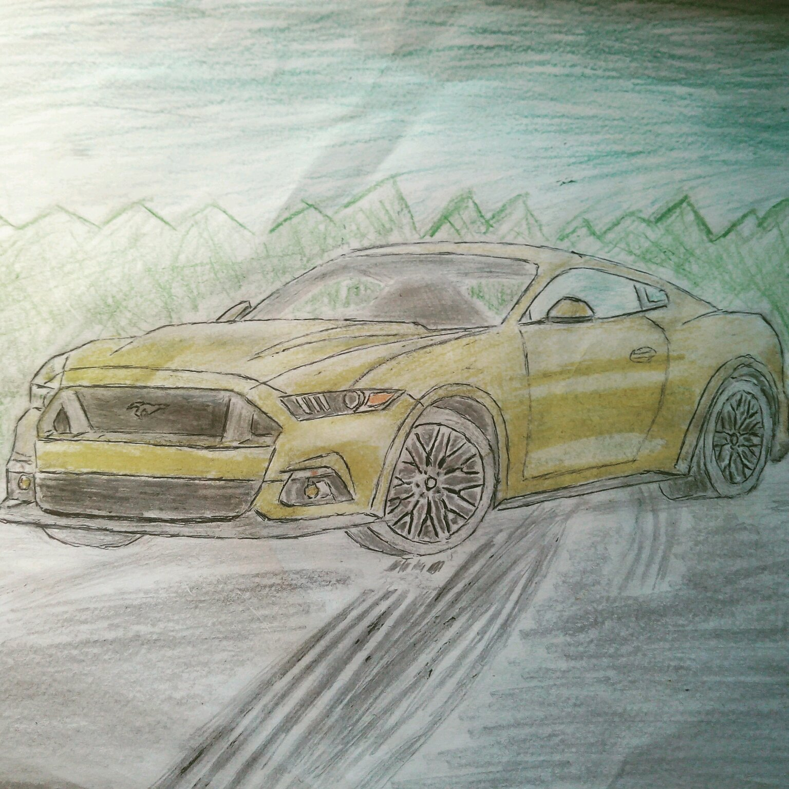 2015 Ford Mustang Gt Drawing