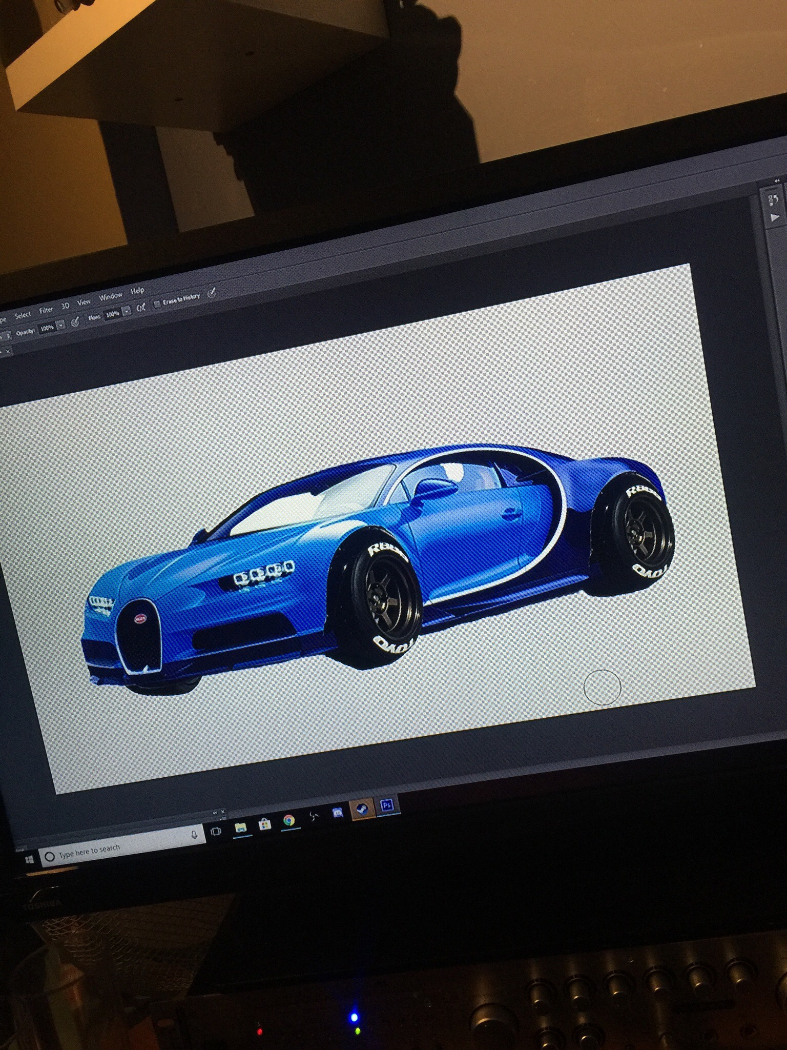 Bugatti Chiron Custom Photoshop Project