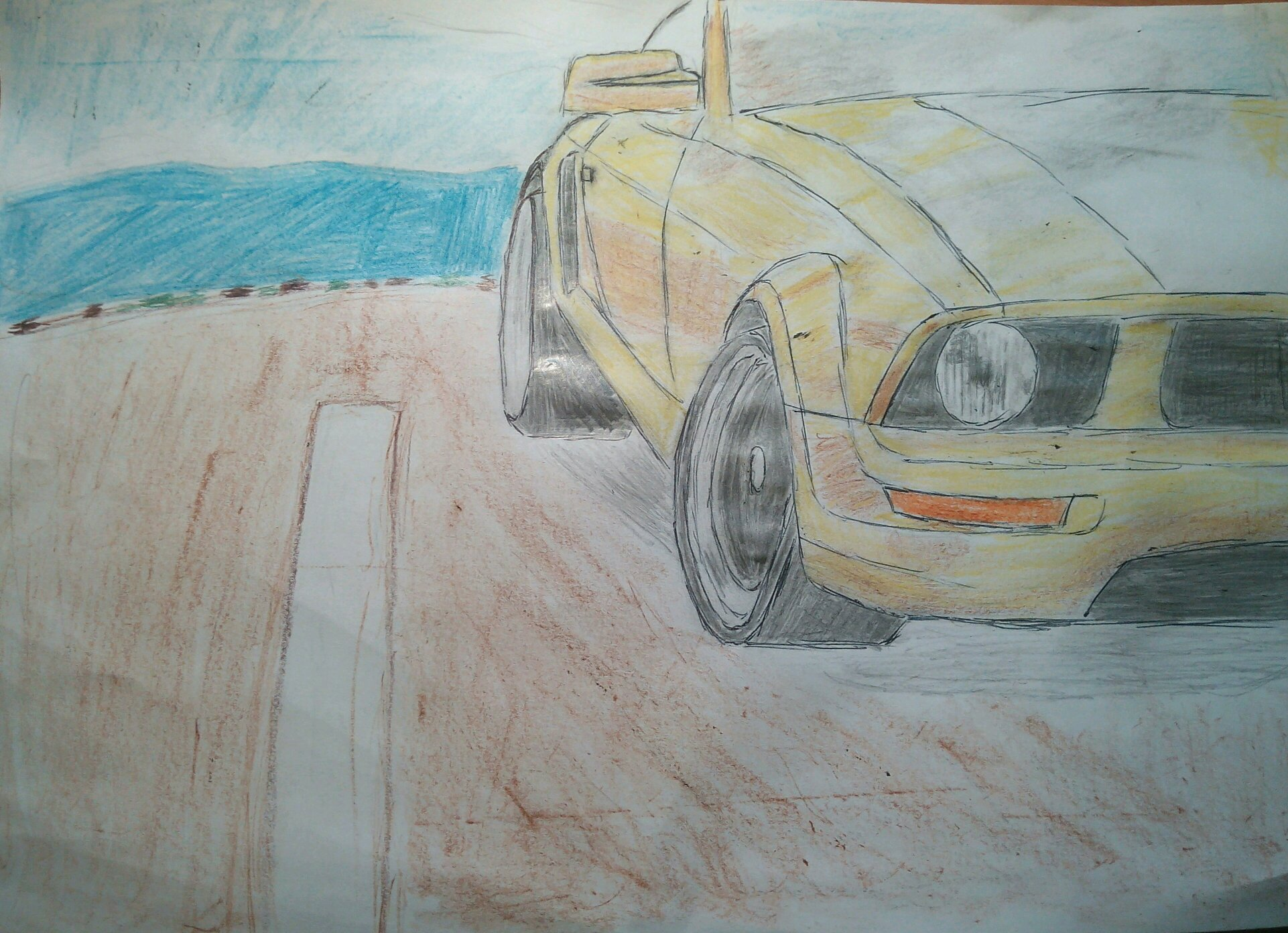 2005 Ford Mustang Gt Drawing And My First Attempt At Car Shadowing