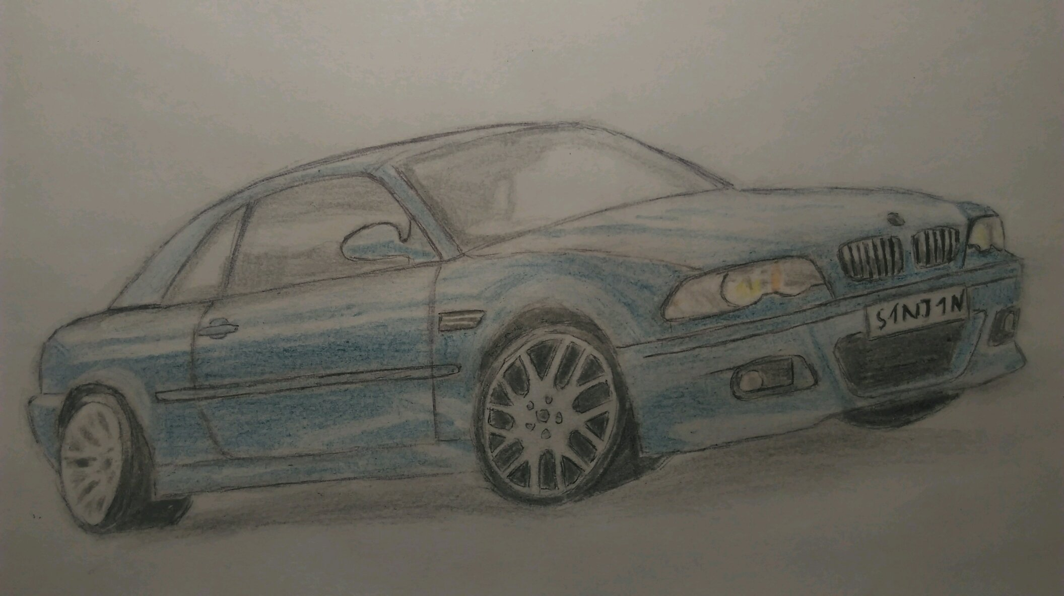 2001 Bmw M3 E46 Convertible Drawing