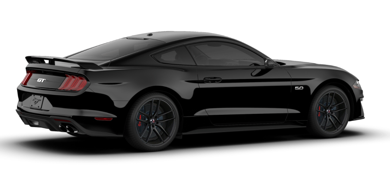 I photoshopped the wheels I want (Axe EX19) onto the Mustang