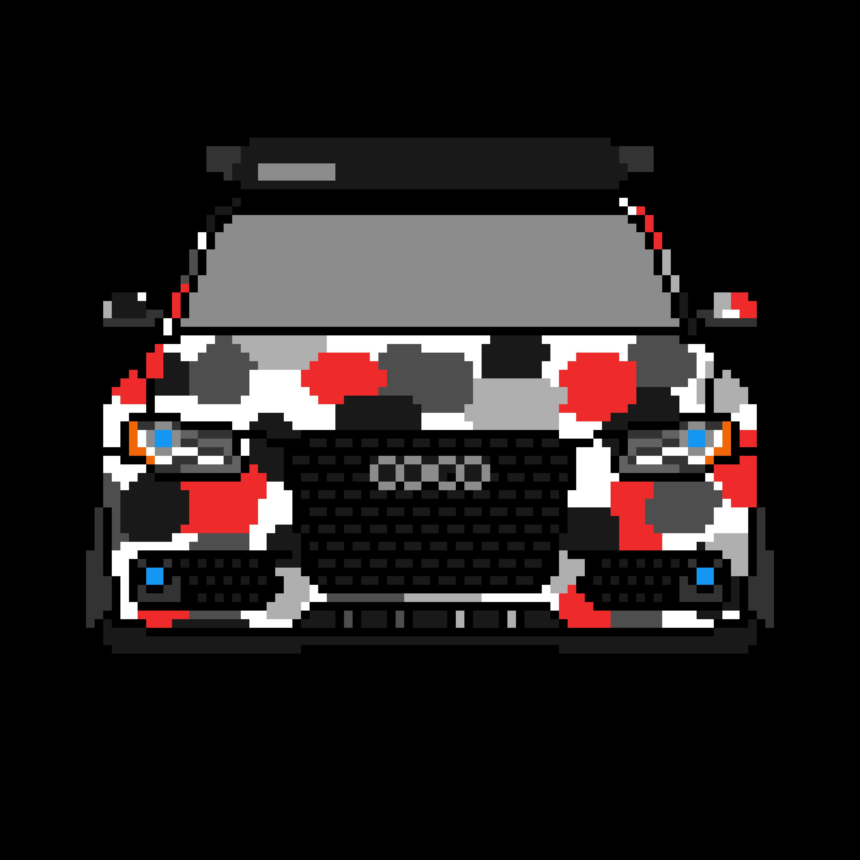 A4 Camo Pixel Art Pixelart