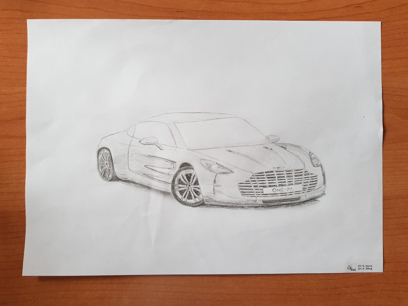 Aston Martin One 77 Drawing