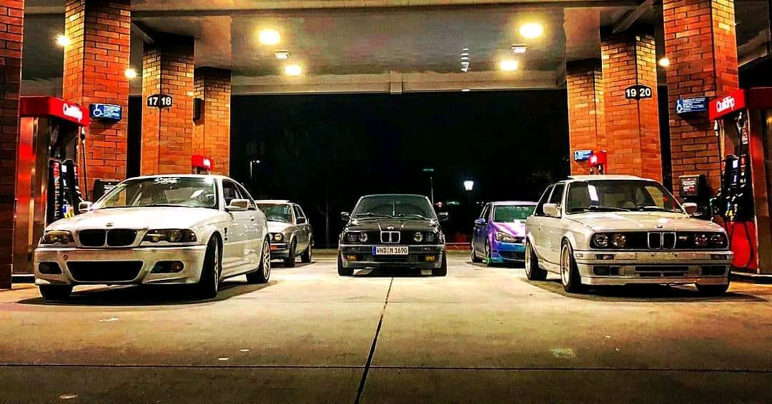 Me And Some Friends After A Car Meet