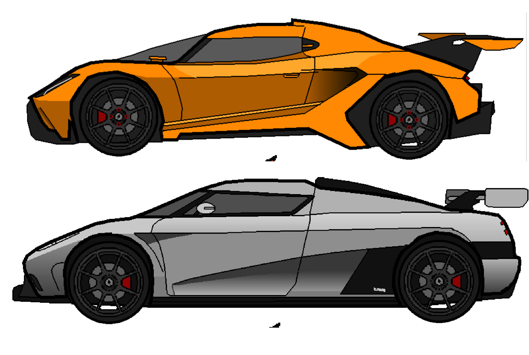 So I drew some GTA V cars! Right now I'm currently stuck on what I