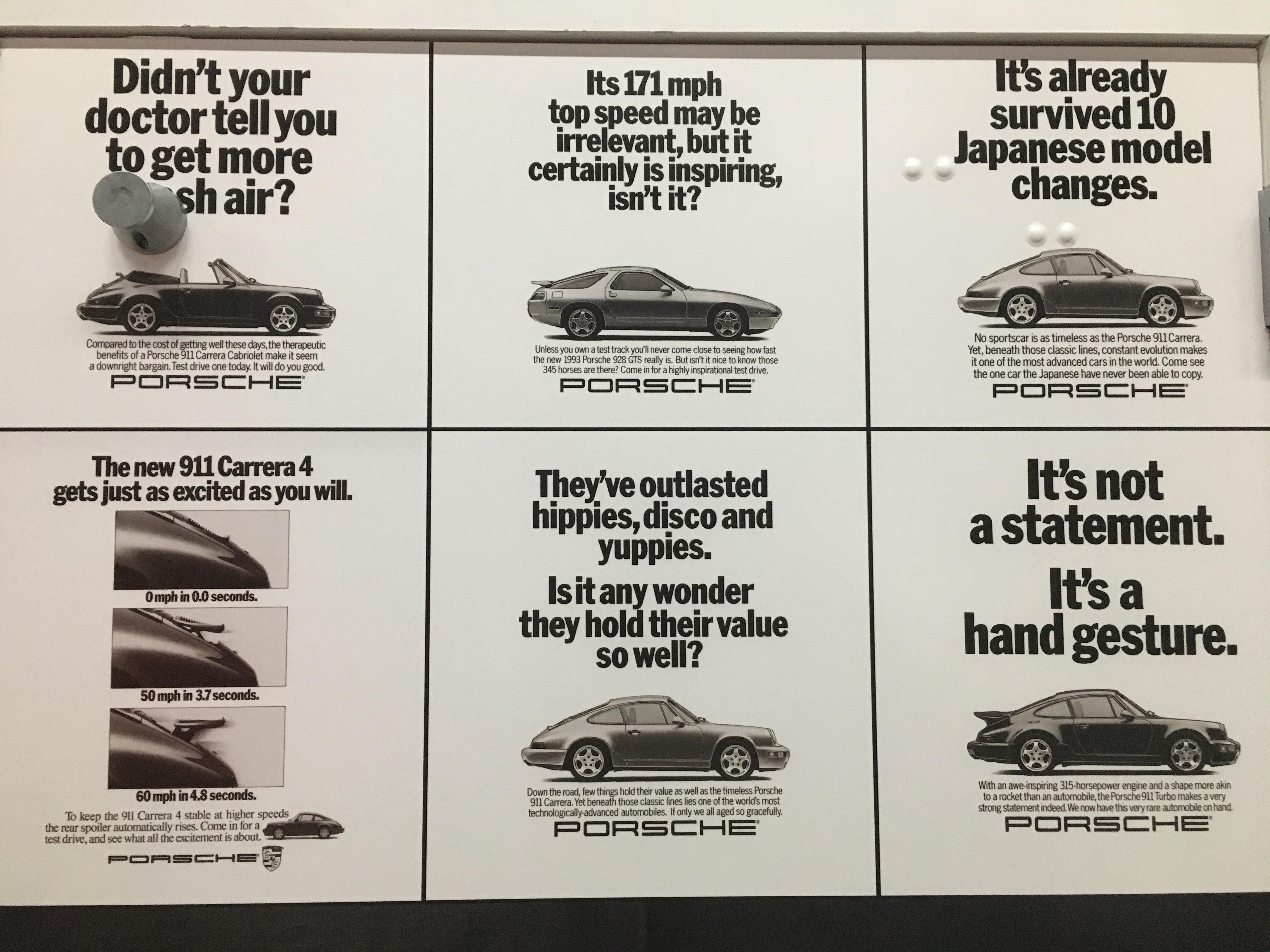 Funny Porsche advertisement