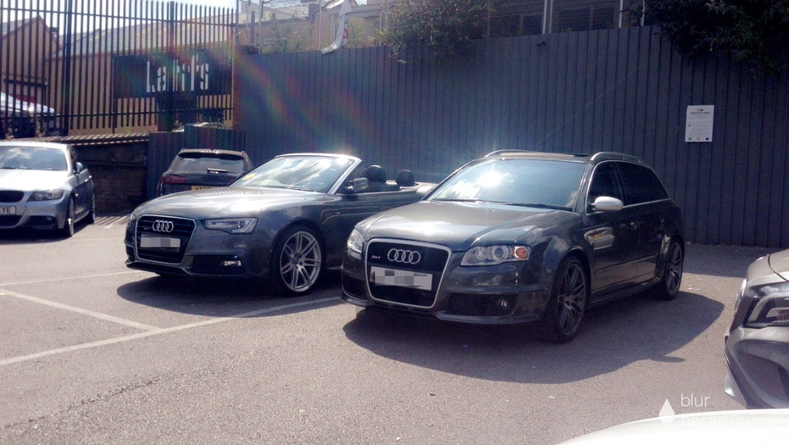 Audi Rs4 B7 And Audi A5 Standing Well Together