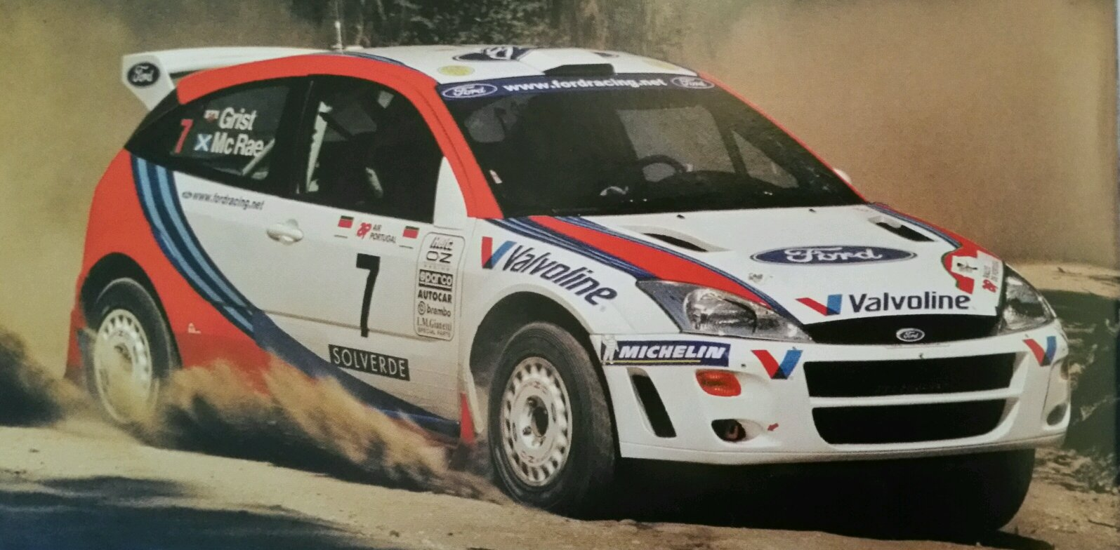 Ford Focus Wrc With The Legendary Driver Colin Mcrae