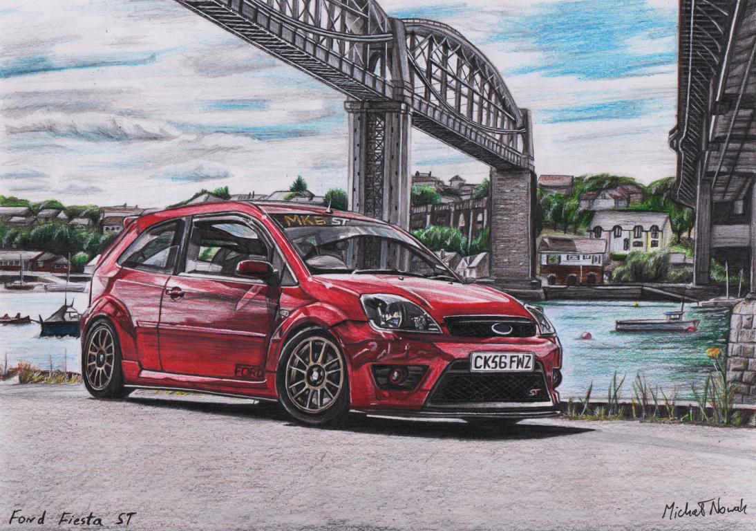 My Drawing Of A Mk6 Fiesta St