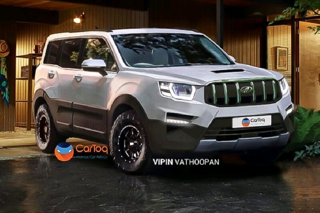 Here S A Render Of The Fourth Generation Mahindra Scorpio