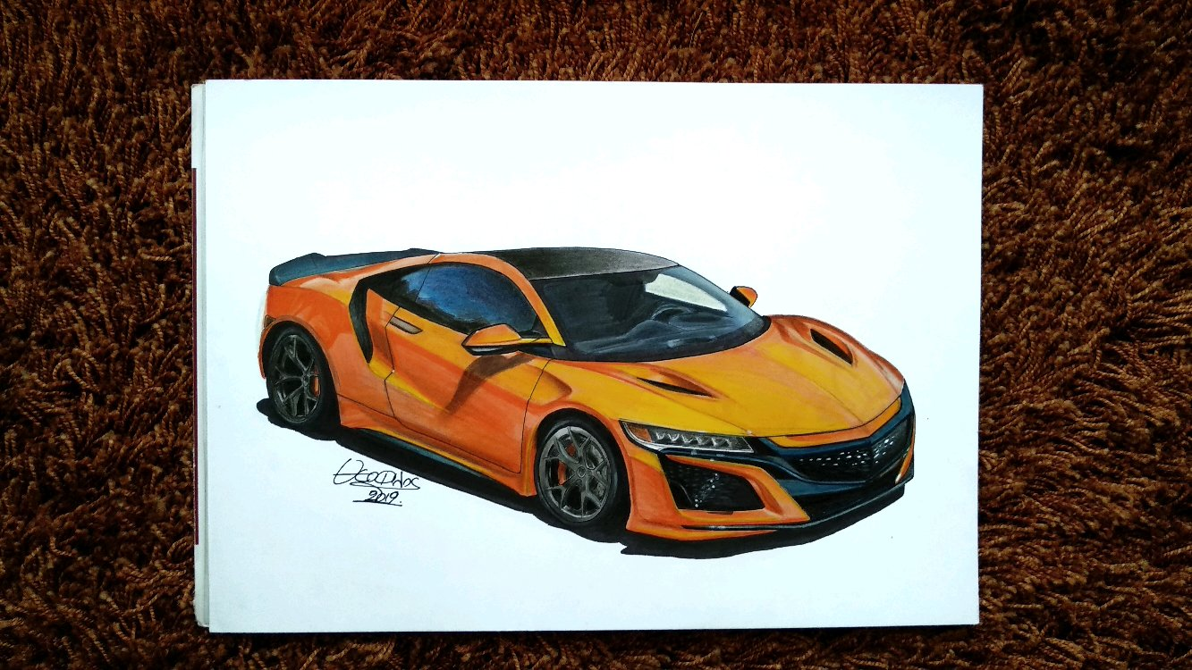 2019 Acura Nsx Drawing