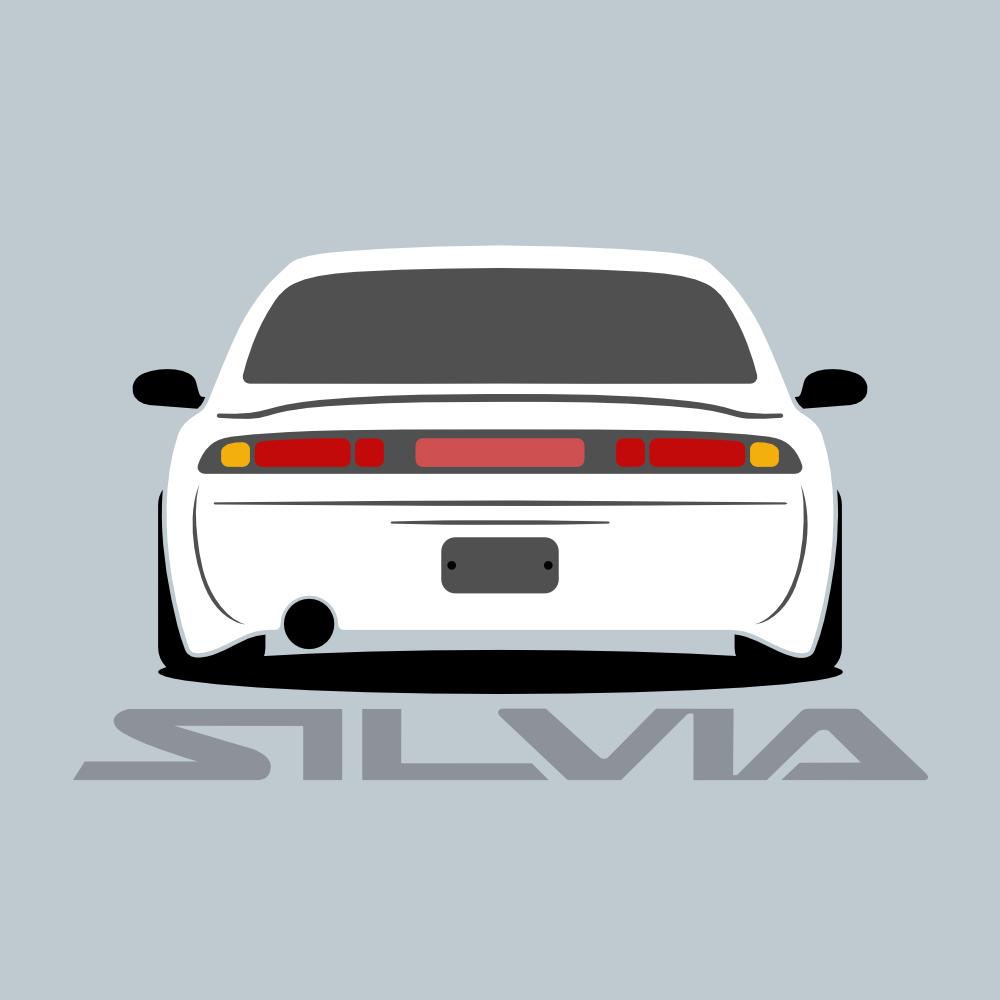 nissan silvia s14 minimalist vector art  car throttle