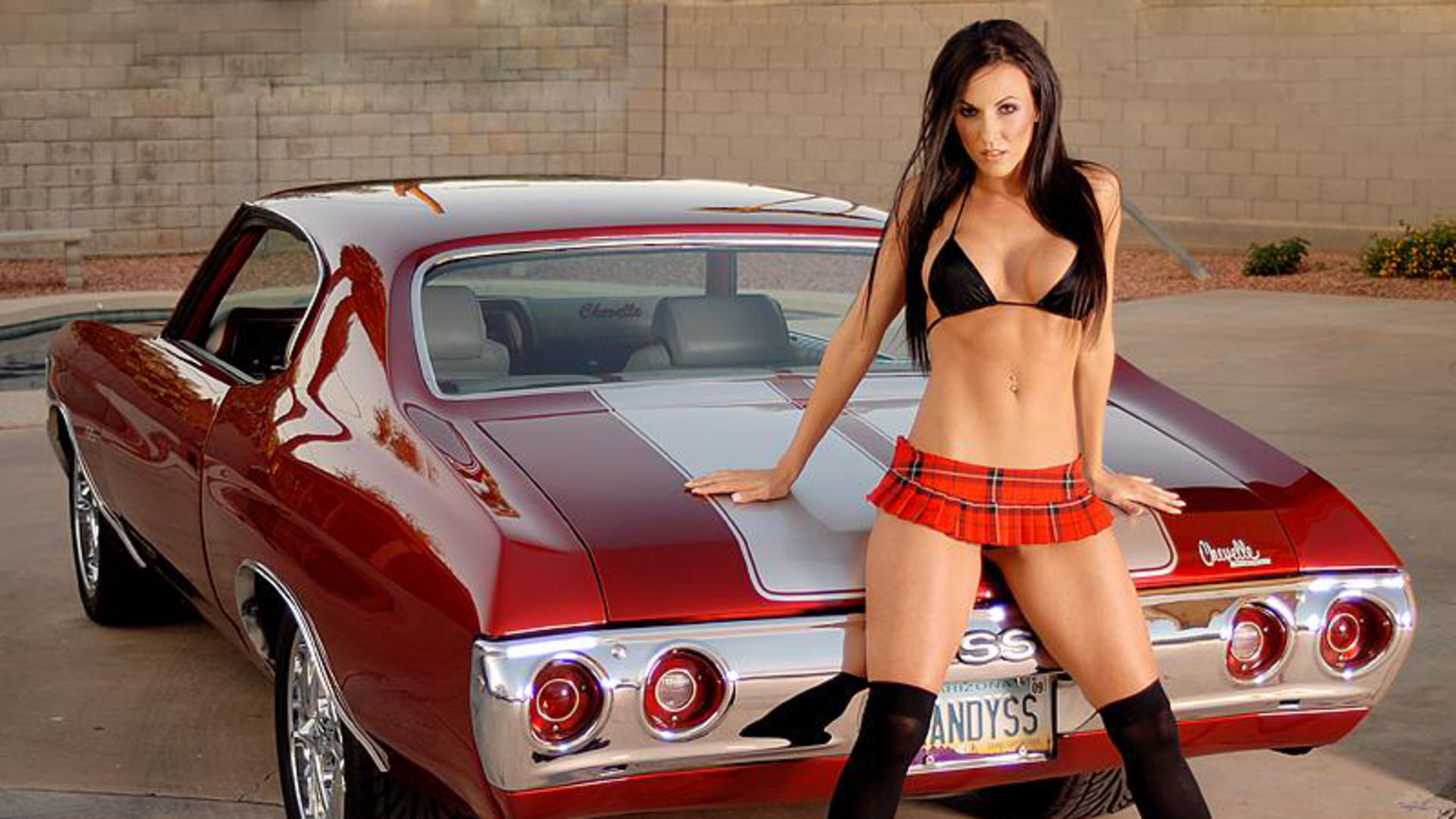 Girl and cool cars all nude